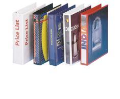 Esselte - Esselte Essentials - 49717 - Classeur à anneaux personnalisable - A4 - Capacité de 280 feuilles - Carton recouvert de polypropylène - 4 anneaux - Noir
