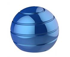 CaLeQi Desktop Transfer Transfer Gyro Alliage daluminium Kinetic Bureau Jouet Soulagement du Stress Bureau Exécutif Gadgets Balle en métal Démontage Complet Rotary Decompression Toy