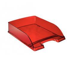 Leitz Plus - Corbeille à courrier 70mm - Rouge translucide