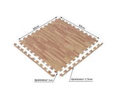 HOMCOM Ensemble de 25 Tapis Mousse de Sol Tapis Puzzle Tapis de Protection 62 x 62cm avec Bordures
