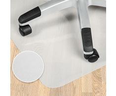 TecTake Tapis protège sol dur laminé parquet fauteil protection 120x120cm