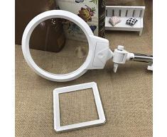 New 2.5X Desktop Magnifier Broderie Lutrin Loupes avec éclairage LED Loupe