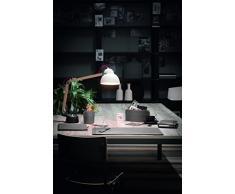 BRANDO 4: Parure de bureau 4 pièces en cuir, couleur Anthracite, set de bureau complet, bureau secrétaire, base Antidèrapant, Made in Italy by Limac Design®.