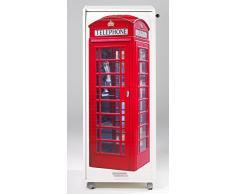 Caisson mobile à rideau - ORGA 110 - London - Cabine téléphonique - Blanc