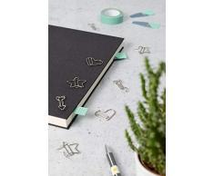 Lot de 12 trombones de bureau avec 3 symboles pour décoration ou marque-page PaperClip S006 Pince à courrier I Paper Clip Clip Clip Pince à courrier ou Bookmark, bureau ou maison