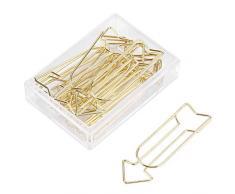 12pcs trombones en or grands, paper clips, trombones en métal flèche clips école fournitures de bureau organisation personnelle