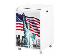 Caisson mobile à rideau - ORGA 70 - New-York - Statue de la Liberté - Blanc