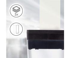 Duronic PS391 Destructeur de Documents Compact pour 3 Feuilles de Papier A4 pliées en Deux - Coupe Micro pour Un Maximum de sécurité - Permet conformité avec RGPD - Usage Professionnel ou Domestique