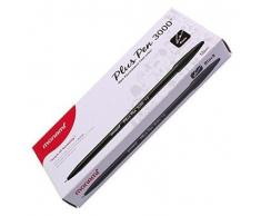 MONAMI Plus 3000 Bureau Sign Pen Stylo feutre encre à base d'eau Pointe couleur Noir complet de bo
