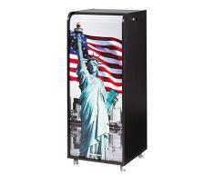 Caisson mobile à rideau - ORGA 110 - New-York - Statue de la Liberté - Noir