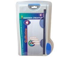 Vaessen creative 29599/01 Rogneuse de Papier-Guillotine-22 cm/9 inch, Plastique, Gris, 29,5 x 17,9 x 4,5 cm