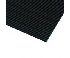 Defender 85970 Tapis de protection avec Câble en caoutchouc cannelé 0,7 x 10 m Noir