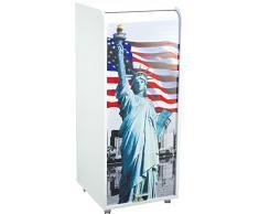 Caisson mobile à rideau - ORGA 110 - New-York - Statue de la Liberté - Blanc