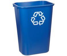 RUBBERMAID Corbeille à papier 39 litres Rectangulaire PE Bleu