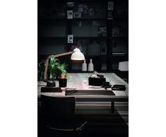 BRANDO 6: Parure de bureau 6 pièces en cuir, couleur Brun Foncé, set de bureau complet, bureau secrétaire, base Antidèrapant, Made in Italy
