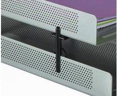 Rolodex Rehausses en métal perforé pour Corbeille à courrier Lot de 4 Noir