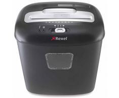 Rexel Duo Destructeur de documents coupe croisée, 10 feuilles à la fois, compatible CD