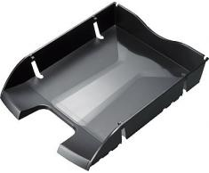"""Helit Corbeille Courrier A4-C4 Embo""""Table Pet Noir"""