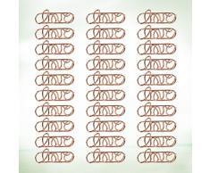 Toyvian Lot de 30 trombones en métal pour cartes, dossiers, notes, marque-pages amusants pour bureau, école, décoration de mariage