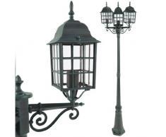Jago - Lampadaire de jardin - A++ à E - Vert - avec 3 luminaires - DIVERSES COULEURS AU CHOIX