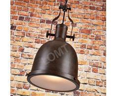Farmhouse Big Bell industrielle Pendentif lumière à suspendre Chaînes lampe de plafond rustique