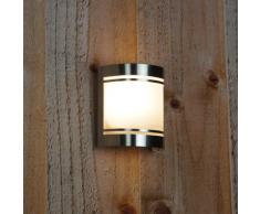 Applique murale Smartwares 5000.298 Alicante - Lampe extérieure - Acier inoxydable ‑ Raccord E27 - IP44
