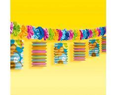 Guirlande Totally Tiki 370 cm - Fête hawaïenne - Deco des Caraïbes - Décoration - Déco d'anniversaire - Soirée à thème