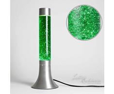 Lampe à lave pailletée verte 38cm Ø13cm avec interrupteur rétro design lumière dambiance chambre jeunesse
