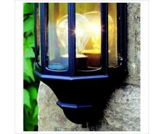 Applique lanterne extérieure Malaga M8 noire et polycarbonate clair