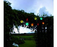 Best Season 477-16 Lampion solaire LED Lumière blanche froide Rouge Env. 20 cm