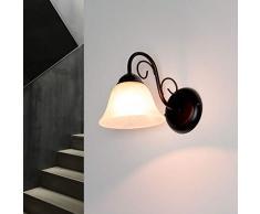 Applique noir Maison de campagne rustique E14 lampe à lintérieur