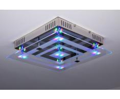 Plafonnier LED carré avec télécommande et changement de couleurs