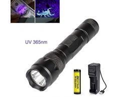 Lampe torche uv 365nm ultraviolette lampe rechargeable Black Light pour la détection de minéraux Scorpions Diamond Vérification de documents fluorescents dans les cosmétiques