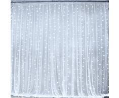Guirlande Rideau Lumineux ,300 LEDs 3M x 3M Lumières Féériques Fenêtre Lumineux LED 8 Modes de Fonctionnement Décoration pour Soirée de Mariage et Noël, Cour,Jardin