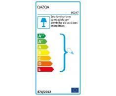 QAZQA Design/Moderne/Applique murale Bergamo acier avec abat-jour noir Metal/Tissu/Carré/Rectangulaire/Compatible pour LED E27 Max. 1 x 60 Watt/Lampe de lecture/Luminaire/Lumiere/É