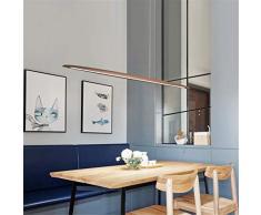 JINWELL Lampe suspension design moderne LED lampe suspension en bois suspension en bois lampes à suspension réglables en hauteur lustre réglable salle à manger chambre lampe intérieure décoratif 130cm