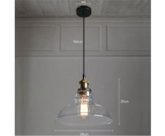 LianLe®Verre Vintage industrielle Retro cordon de montage Ceiling Pendant Lampe Edison