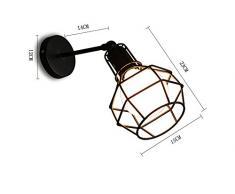 KOONTING® Vintage Industriel Applique, Métal Peinture Réglable Luminaires Plafonnier Suspension Applique,Noir.(Shape:A)