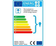 QAZQA Design / Industriel / Rétro / Lampadaire / Lampe de sol / Lampe sur Pied / Luminaire / Lumiere / Éclairage Tripod naturel avec abat-jour 45cm lin blanc Bois / Metal / Tissu / Oblongue Compatible pour LED E27 Max. 1 x 25 Watt / Lampe de lecture