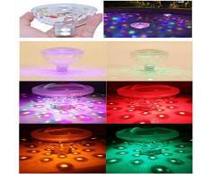 LUBITY Piscine Jacuzzi Lampe Spa, Piscine LumièRes, Sous-Marine LumièRe Voir, Salle ÉClairage, Gonflable Sous-Verres De Boissons -5 Mode Transformation, Led LumièRe Source (LumièRe ColoréE)