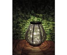 MUNDUS 35675 Lanterne solaire, Plastique, Marron