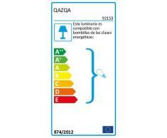 QAZQA Lin Abat-jour 25cm rond DS E27 lin gris foncé , Rond oblique Abat-jour Lampadaire, Abat-jour Suspendu , / Lampe de lecture