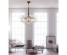 Abat-jour en verre Style Vintage pour lampe campagne pour lampe à suspension lustre plafonnier pendentif lumière 6 Lights 20 Boules de Verre