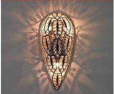 Gowe Fashion murale rustique Lampes de Chevet vintage en fer forgé Applique murale en cristal lampe murale éclairage intérieur LED pour chambre E27 * * * * * * * * 3