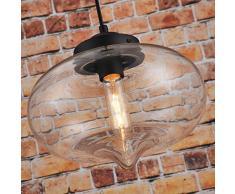 Suspension Industrielle en verre moderne plafond Lampe goutte d'eau