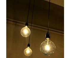 E27 Lustre Creative Edison Lustre Antique DIY 3 Lampes Industrielle Vintage Plafonnier Lampe Luminaire Pendentif Retro Salle Industrielle Salle à Manger Chambre Hôtel Home Lighting Accessoires