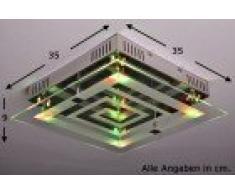 Plafonnier à LED avec variateur de couleurs et télécommande
