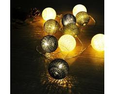 JINGXU® Guirlande Lumineuse 10 Boules LED Batterie Boule de Cordes Lumières pour Noël, Mariage, Patry, Decoration