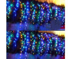 6 m x 1 m - 256 LED extérieur Pour fêtes de Noël Guirlande pour mariage/Festival Forme/hôtel Rideau lumineux lumière -deal Creat à une bonne humeur pour les fêtes de mariage Stage Home Bar hôtel KTV café Celebrating jours