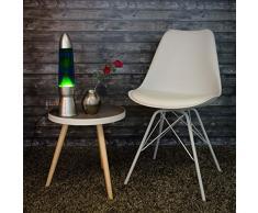 Grande 43 cm de haut lampe à lave en bleu jaune Magma Lampe à lave Convient également comme cadeau